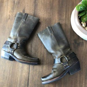 Frye Harness 12R Boot in Rugged Olive Sz 5.5M